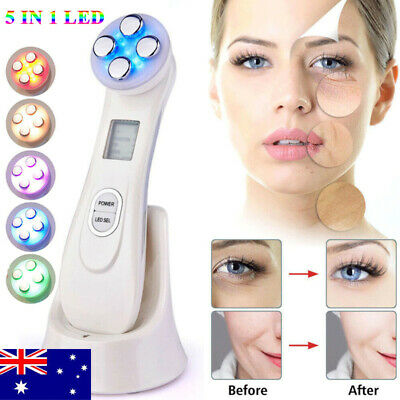 5 In 1 LED RF EMS Photon Therapy Rejuvenation Face Skin Care Spa Beauty Device