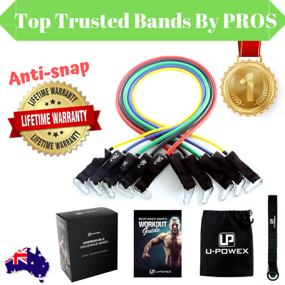UPOWEX Resistance Bands for Crossfit Strength Fitness Exercise GYM  AU