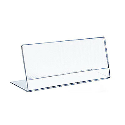 Acrylic Clear L-Shaped Sign Holder 14W x 8.5H Inches - Count of 10