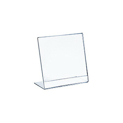 Acrylic Clear L-Shaped Sign Holder 8W x 10H Inches - Pack of 10