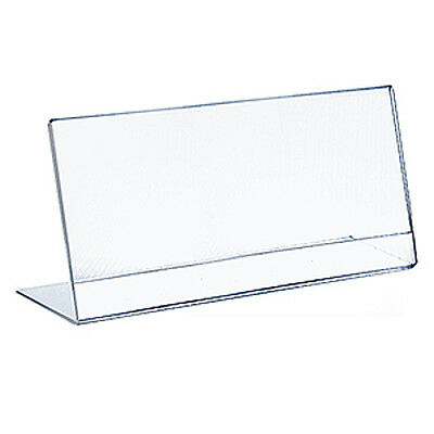 Acrylic Clear L-Shaped Sign Holder 17W x 11H Inches - Box of 10