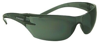 Protector ECONO SMOKE S55SR SAFETY SPECTACLE Anti-Scratch Lens, UV Protection