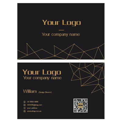 500 Business Cards Colour printed on both sides Free Template New