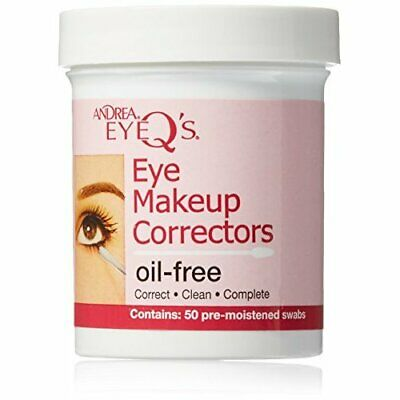 Andrea Eyeq's Oil-free Eye Make-up Correctors Pre-moistened Swabs, 50-Count