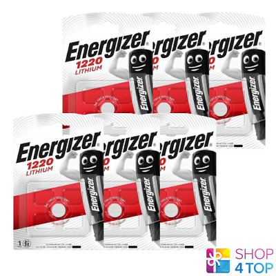 6 Energizer Cr1220 Lithium Battery 3V Cell Coin Button Exp 2023 New