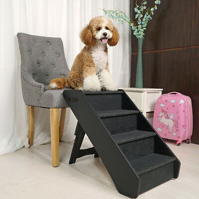 Animal Step 4 Pet Puppy Steps Dog Cat Stairs Ladder Climb Ramp for Couch or Bed