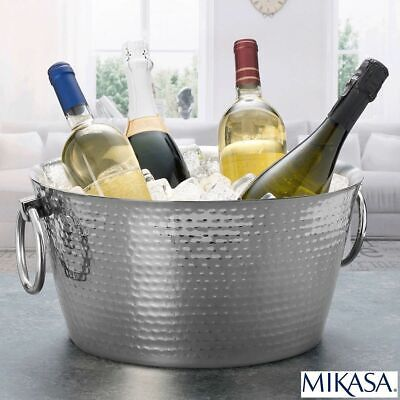 Stainless Steel Hammered Double Wall Ice Bucket Bowl Cooler Bucket