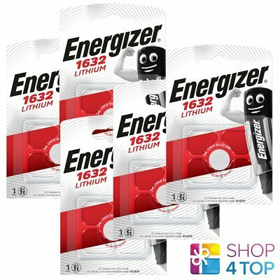 5 Energizer Cr1632 Lithium Battery 3V Cell Coin Button Exp 2026 New