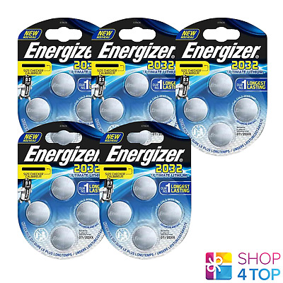 20 Energizer Cr2032 Ultimate Lithium Batteries 3V Coin Cell Dl2032 Exp 2025 New