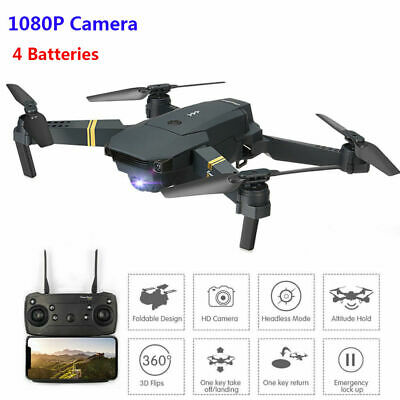 Drone X Pro WIFI FPV 1080P HD Camera 4 Batteries Foldable RC Selfie Quadcopter