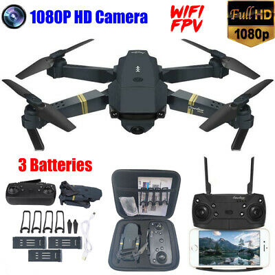 Drone X Pro FPV Wifi with 1080P HD Camera 2.4G RC 6-Axle Quadcopter 4 Batteries