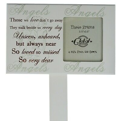 Graveside Memorial Grave Marker & Photo Frame Tribute Those We Love Don't Go