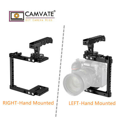 CAMVATE Camera Cage Kit Rig Top Handle & Shoe Left/Right Mounted for Canon Nikon