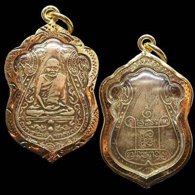 Thai Amulet Buddha Old Coin Phra Lp Eiam Wat Nhang Power Magic Pendant Amulets