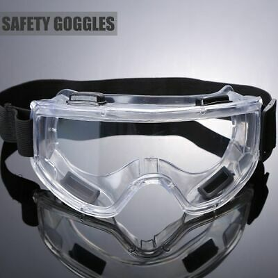 Anti-impact Clear Lens Protective Lab Work Safety Glasses Eye Protection Goggles