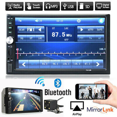"7"" Inch DOUBLE 2DIN Car MP5 Player BT Tou+ch Screen Stereo Radio HD+Free Camera"