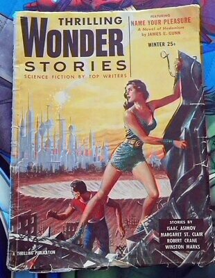 Thrilling Wonder Stories inverno 1955 Ritorno al futuro, George McFly, Marty Doc