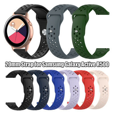 Watch Band Bracelet Strap 20mm Silicone For Samsung Galaxy Watch Active R500
