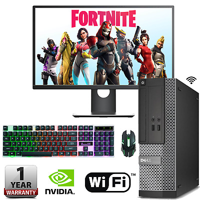 Fast Gaming DELL HP PC Computer Bundle i3 i5 i7 8GB 240GB SSD Windows 10 GT 710