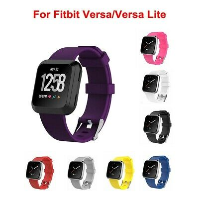 Replacement Band for Fitbit Versa Lite Silicone Strap Wristband Fitness Tracker