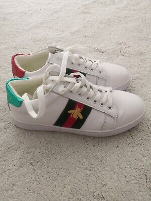 c5d9b34ea Gucci ace style trainers - green red and white with bee. Size 3 (36