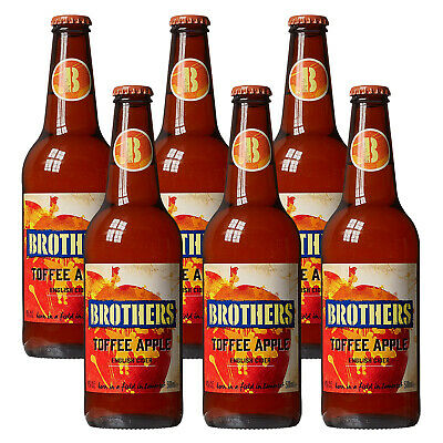 Brothers Toffee Apple English Cider Alc. 4,0% Vol. 6x 500ml (3600ml) britischer