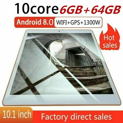 """10.1"""" Tablet PC 6G+64G Ten Core Android 8.1 Dual SIM Camera Wifi Phone Phablet"""
