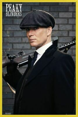 Peaky Blinders Poster & Plastic Frame Yellow (36x24inches) #BD4VN