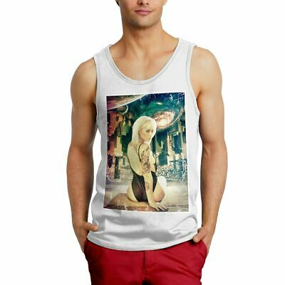 A835W Mens Tank Top Flip Side Space Woman Sexy Abstract Fashion Art City Hipster