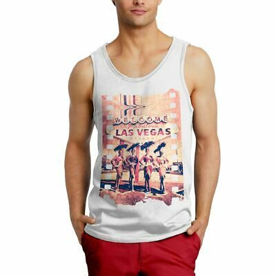 A834W Mens Vest Fabulous Vegas Art Welcome To Dancers Nevada Las Abstract Fashio