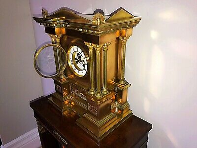 J.W.Benson Exhibition Quality Mantel Clock with Royal Links