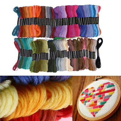 Sewing Skeins Needles Embroidery Thread Floss Cotton Cross Stitch Multi-Color