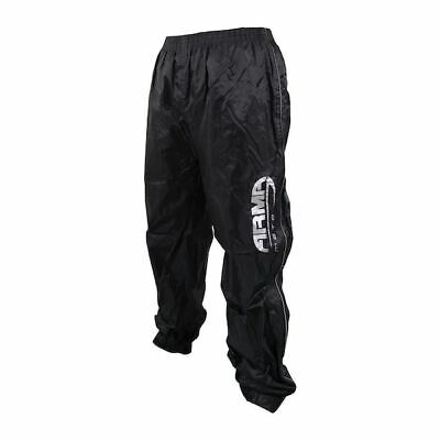 ARMR Moto Rainwear Motorcycle Bike All Weather Over Trousers Hi-Vis Black