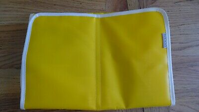 Orla Kiely yellow folding baby changing mat