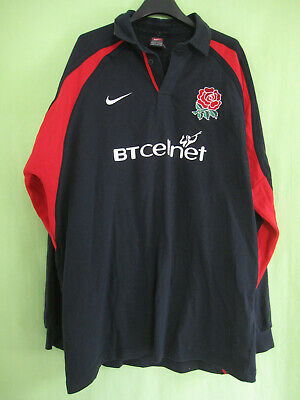 Maillot Rugby Angleterre Nike jersey England BTcellnet Vintage coton - XL