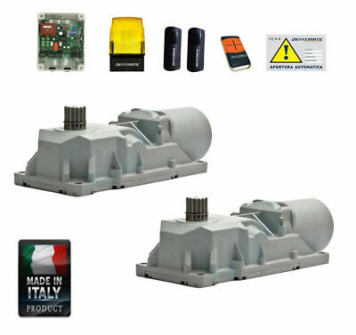 KIT MOTORE AUTOMATISMO CANCELLO BATTENTE INTERRATO 230v MOTORI INTERRATI INCASSO