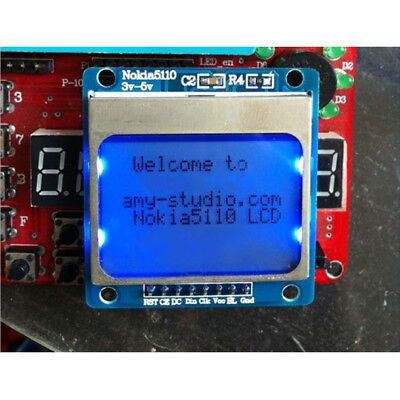 84x48 Nokia LCD Module Blue Backlight Adapter PCB Nokia 5110 LCD For Arduino QP