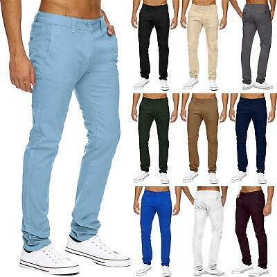 Mens Chino Pants Classic Spandex Size 32-40 Regular Fit Trouser Casual Stretch