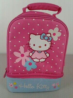 2d9db5a21 HELLO KITTY SOFT Insulated Lunch Box Bag Pink Black Sanrio HELLO ...