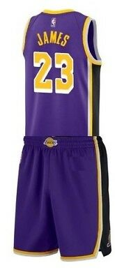 Completo Canotta/Jersey+Panta-Collezione-Basket-Nba-Los Angeles Lakers-James