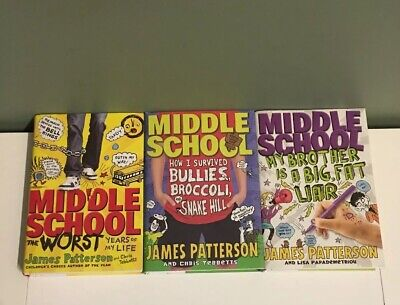 James Patterson Middle School Hardcover Lot of 3 Books Worst Years Liar Bullies