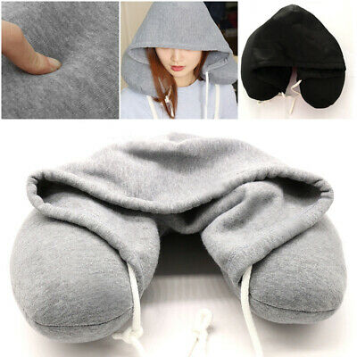 Car U Pillow Cushion Hoodie Holiday Neck Airplane Travel Office Rest Hot