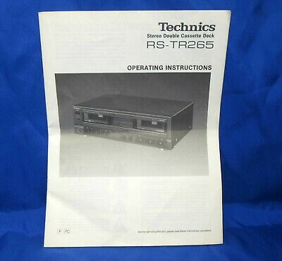ORIGINAL TECHNICS SD-A420 Stereo System Owner's Manual ~ Free
