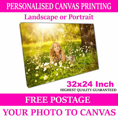 Custom Canvas Print Your Photo on Personalised Canvas Large Box Ready to Hang A1