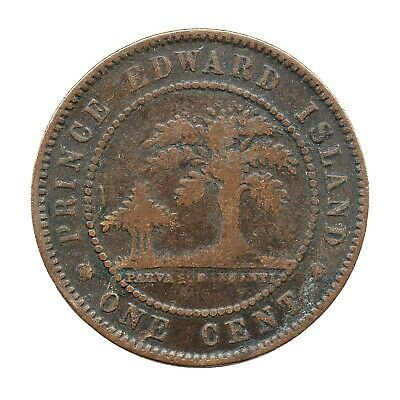 KM# 4 - One Cent - Victoria - Prince Edward Island - Canada 1871 (Fair)
