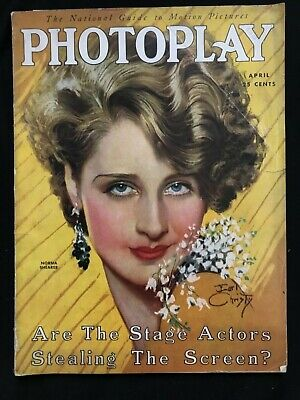 PHOTOPLAY April 1930 NORMA SHEARER cover by Earl Christy GARBO Hell's Angels