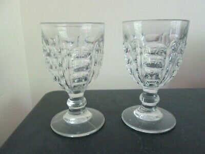 Superb Pair of Antique 19th Century Pressed Glass Rummer Tavern Glasses