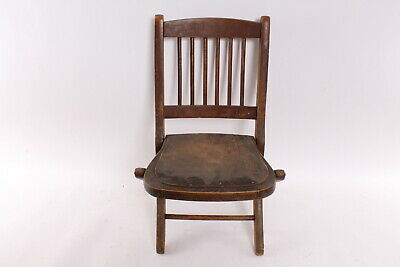 Old Folding Wood Childs Kids Chair Readsboro Chair Company