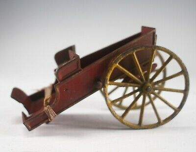Antique Hubley Or Ives Cast Iron Farm Wagon Delivery Cart Toy