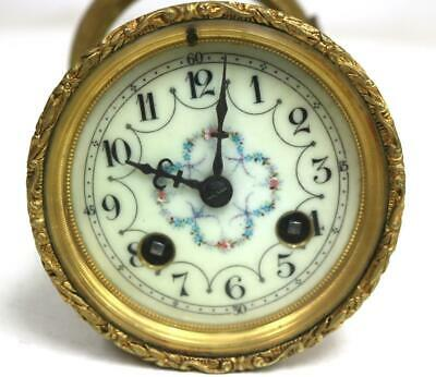 Fully Serviced Antique French 8 Day Striking Mantel Clock Movement, Dial & Bezel